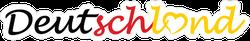 Deutschland Logo Text Sticker