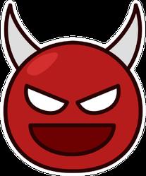 Devil Face Icon Sticker