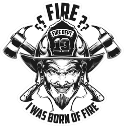Devil Firefighter Sticker