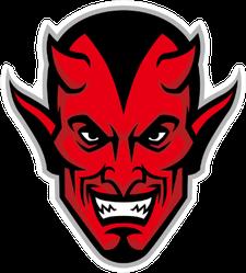 Devil Head Mascot Sticker