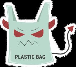 Devil Plastic Bag Sticker