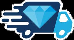 Diamond Delivery Truck Sticker