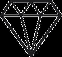 Diamond Icon Flat Style Sticker