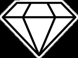 Diamond Icon Vector Illustration Sticker