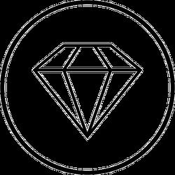 Diamond in Circle Sticker