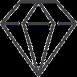 Diamond Line Icon Sticker