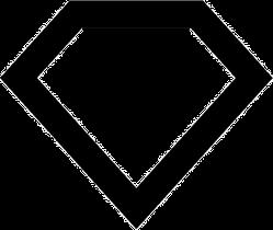 Diamond Outline Sticker