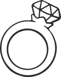 Diamond Ring Illustration Sticker