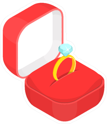 Diamond Ring in Box Sticker