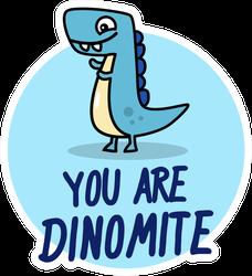 Dinomite Dinosaur Sticker