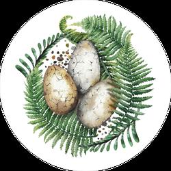 Dinosaur Egg Nest Watercolor Sticker