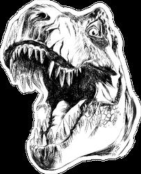 Dinosaur Head Sketch Sticker