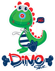 Dinosaur Toy Sticker