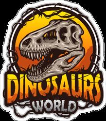 Dinosaurs World Logo Sticker