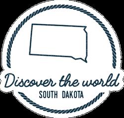 Discover The World South Dakota Sticker
