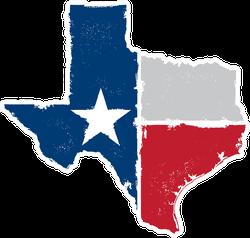 Distressed Texas State Sticker