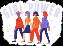 Diverse Women Standing Together Sticker