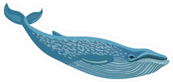 Diving Blue Whale Sticker