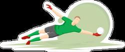 Diving Goal Keeper Sticker