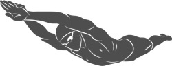 Diving Swimmer Sticker