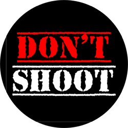 Do Not Shoot Calligraphic Text Sticker