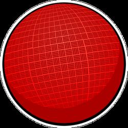 Dodgeball Detailed Illustration Sticker