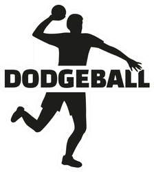 Dodgeball Player With Lettering Sticker