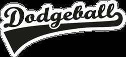 Dodgeball Word Retro Sticker