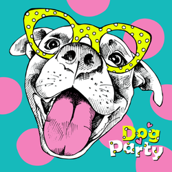 Dog Party Sticker