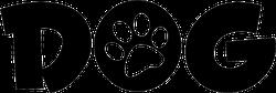Dog Text With Paw Print Sticker