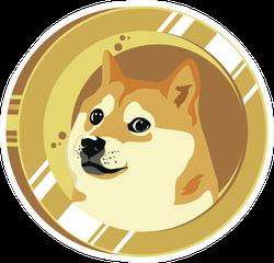 Doge Coin Circle Sticker