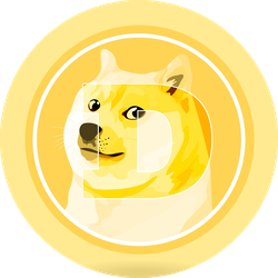 Dogecoin Cryptocurrency Sticker