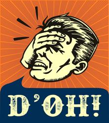 D'OH Facepalm Meme Sticker