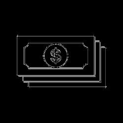 Dollar Bills Icon Symbol Sticker