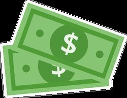 Dollar Bills Illustration Sticker