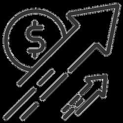 Dollar Rate Increase Symbol Sticker