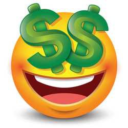 Dollar Sign Eyes Emoji Sticker