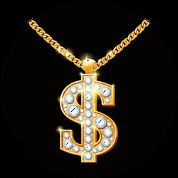 Dollar Sign Hip Hop Necklace