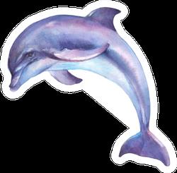Dolphin Jumping Watercolor Illustration Sticker