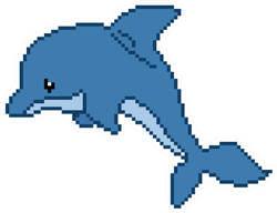 Dolphin Pixel Art Sticker