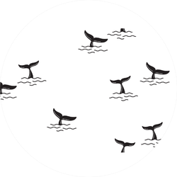 Dolphin Tail Pattern Sticker