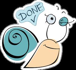 Done Snail Sticker
