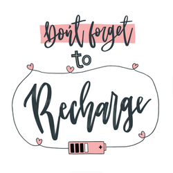 Don't Forget to Recharge Sticker