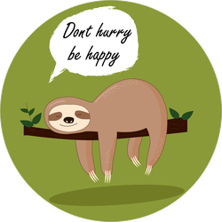 Dont Hurry Be Happy Sloth Sticker