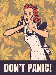 Dont Panic Housewife Meme Sticker