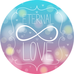 Doodle Hands Making Infinity Symbol Eternal Love Sticker