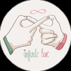 Doodle Hands Making Infinity Symbol Infinite Love Sticker