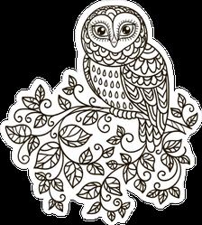 Doodle Owl Sticker
