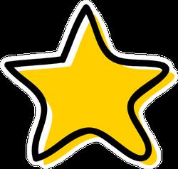 Doodle Star Sticker