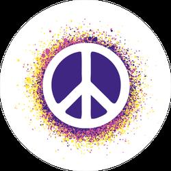 Dot Art Peace Sign Sticker
